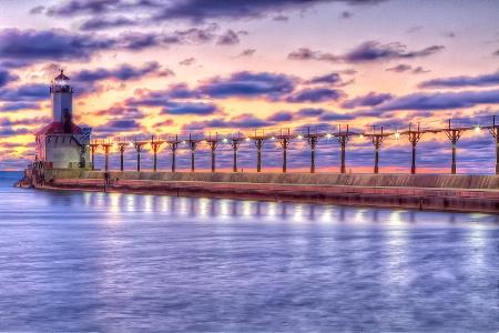 Sunset at Michigan City