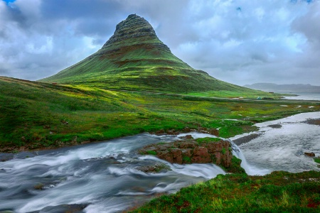 Gloom over Kirkjufell Mountain