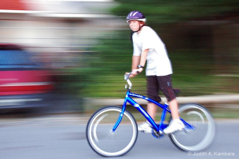 Bike Blur - ID: 14156742 © Judith A. Kambara