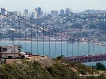 SF as Seen Throught the Golden Gate Bridge