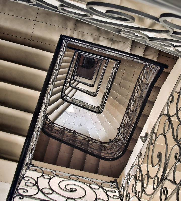 Squared Spiral Staircase