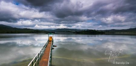 serenity of morning ayyan kere lake