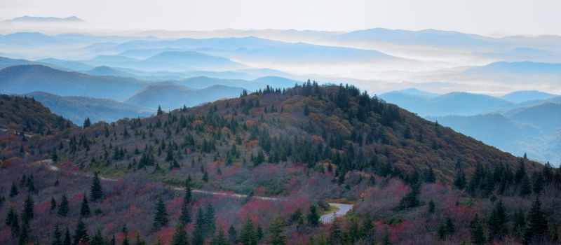 Changing color on the Blue Ridge, NC