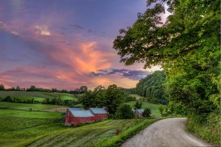 Sunset Over Jenne Farm