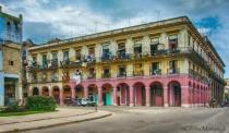 Old Havana,Cuba city living over first floor store