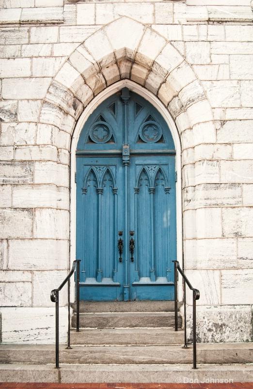 Blue Church Door - ID: 14237019 © Don Johnson
