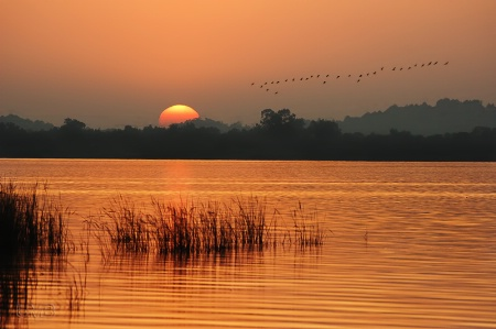 Rawal Lake Sunset