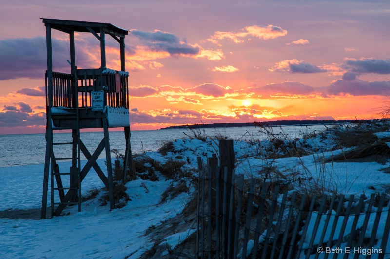 Fiery Sunset - Bass River Beach - Yarmouth - ID: 14245111 © Beth E. Higgins