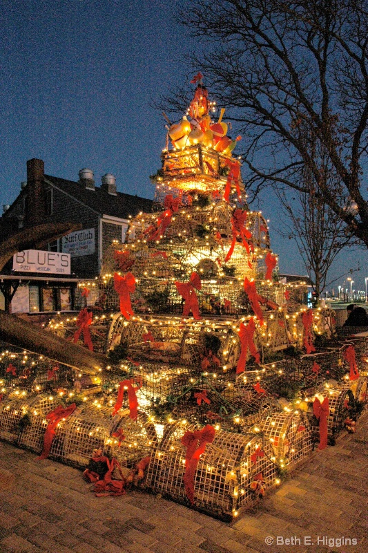 Provincetown Lobster Trap Holiday Tree - ID: 14254292 © Beth E. Higgins
