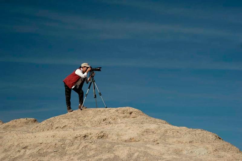 Climbing Photographer
