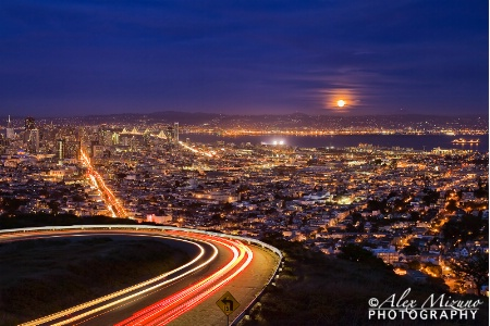 FULL MOON AT TWIN PEAKS
