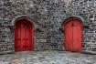 Two Red Doors