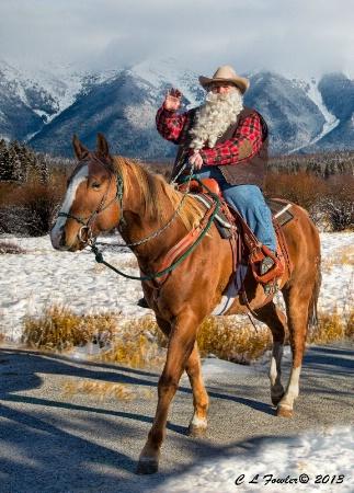 Cowboy Claus Rides into Town