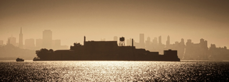 Alcatraz in Winter Haze