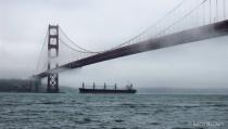 Golden Gate from a Catamaran