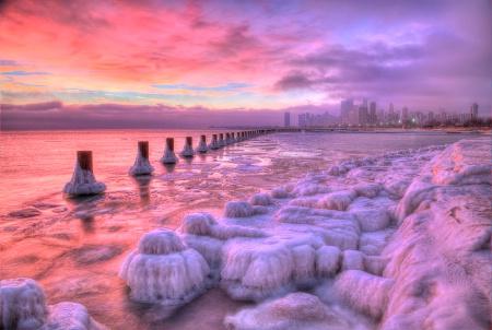 Chicago Winter Sunrise