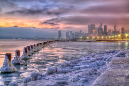 Chicago Icey Twilight