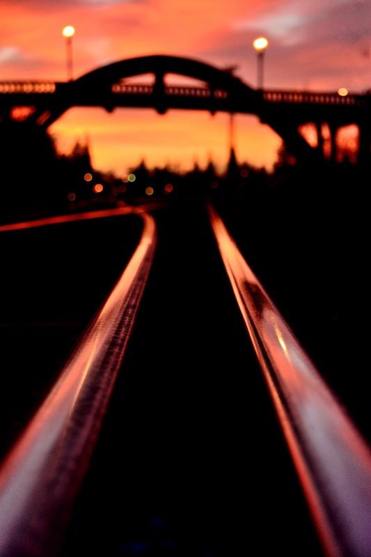 Rail Tracks before Sunrise