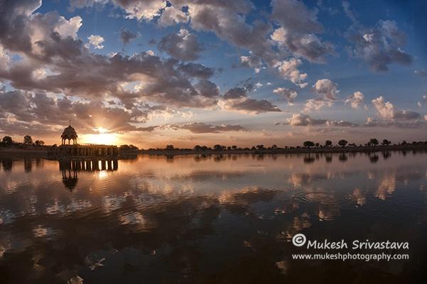 Sunrise At Gadsisar Lake.