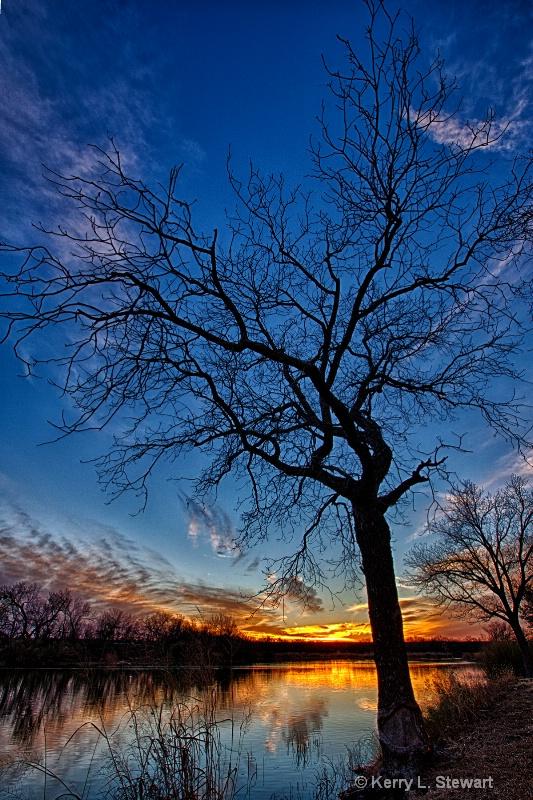 Lake Nasworthy Sunset  No.1 - ID: 14367723 © Kerry L. Stewart