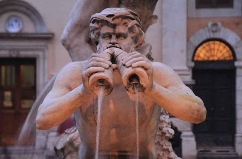 A fountain from Rome