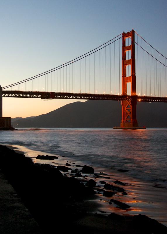 golden gate bridge sunset 1b