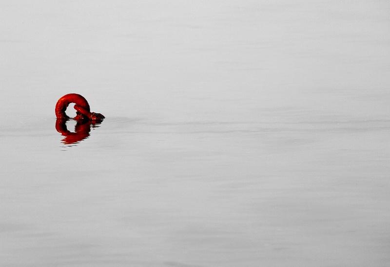 Red Mooring Anchor
