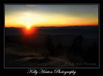 Clingmans Dome Sunrise with Cross