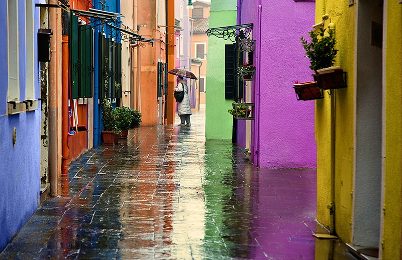 Rainy Day in Burano