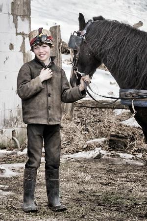 Amish Boy with Pony