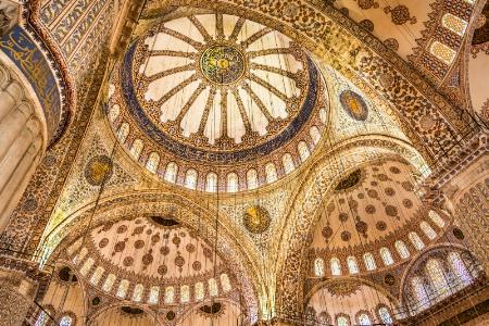 Sultanahmet, Istanbul - Blue Mosque Ceiling