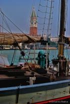 Sailing ship in Venice