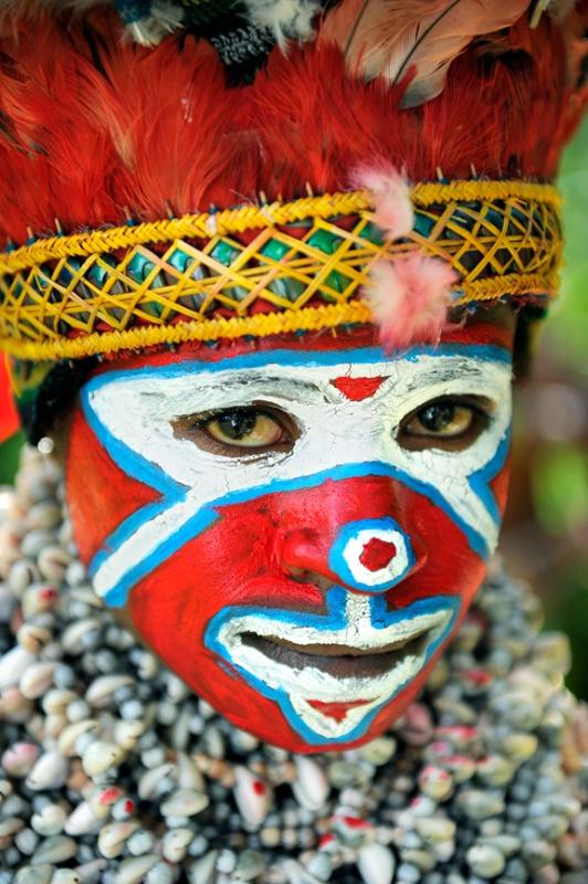 Color on Face - ID: 14426348 © Kyaw Kyaw Winn