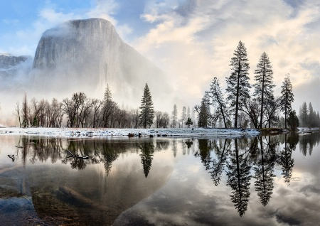 Merced River and El Capitan