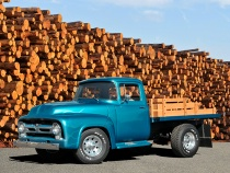 1956 Ford F 250 Pickup Truck with Dump Bed