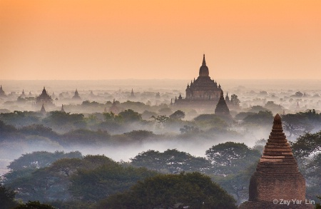 Misty Dawn of Bagan