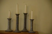 Candles at mantlepiece