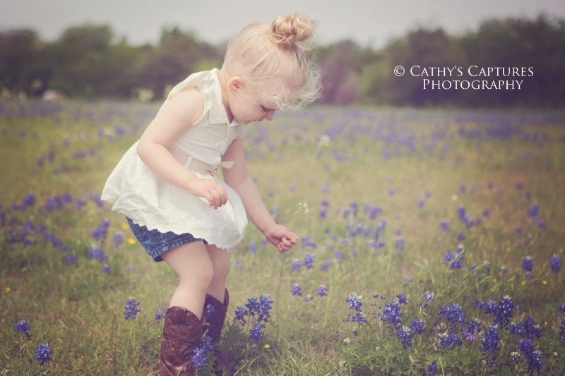 ~Emma in the Blue Bonnets~ - ID: 14472092 © Cathy A. Rose