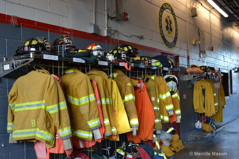 Bunker Gear waiting for FireFighters - ID: 14495054 © Merrille Mason