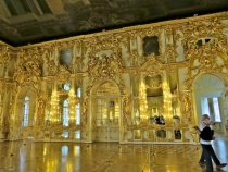 Closer view of the Gilded Gold Mirrors