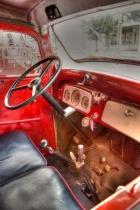Antique Fire Engine, Inside Cab