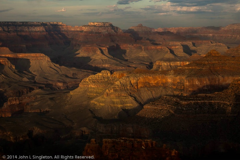 Grand Canyon - Hopi Point - Sunset - ID: 14503672 © John Singleton
