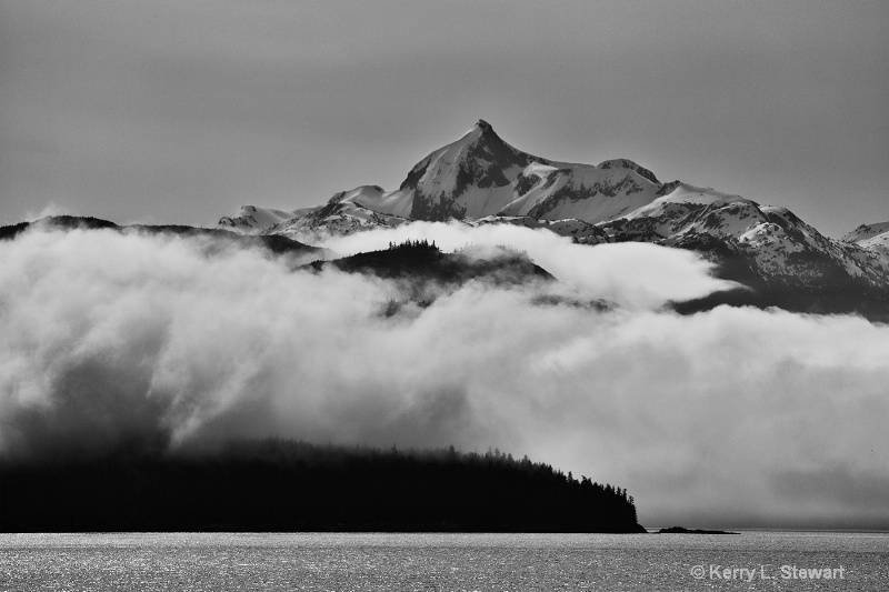 On the Way to Juneau No. 6 Black and White - ID: 14507881 © Kerry L. Stewart