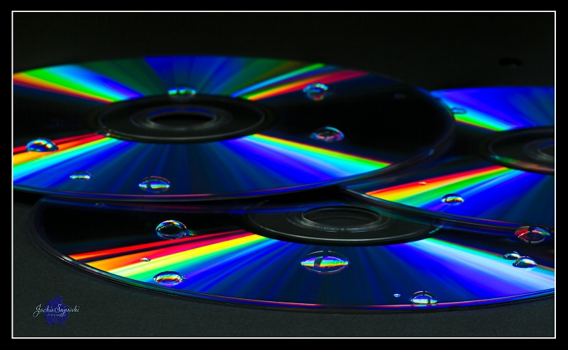 Water Drops on CD's