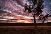 Sunset across the...