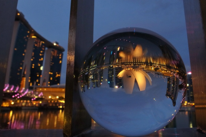 Cityscape in a Crystal Ball