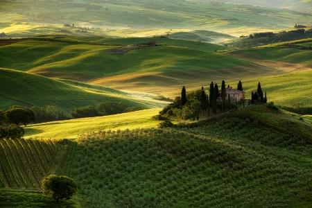 A Tuscan Villa  At Dawn