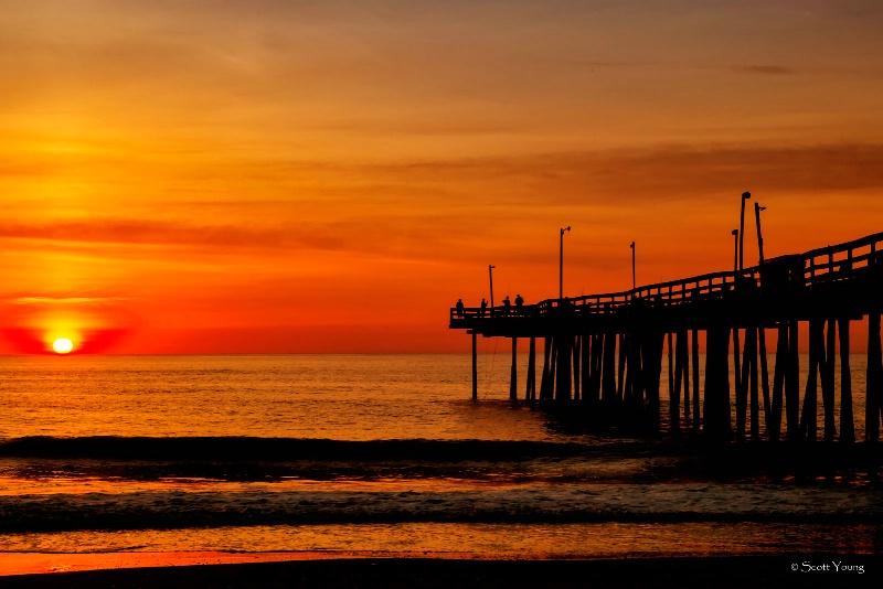Sunrise at Nags Head Pier; Nags Head, NC - ID: 14523241 © Richard S. Young