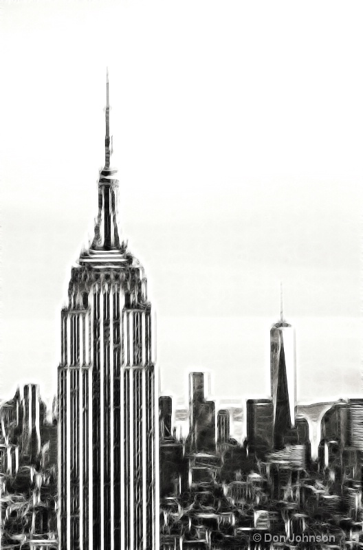 NYC's New Skyline-Fractalius - ID: 14528688 © Don Johnson