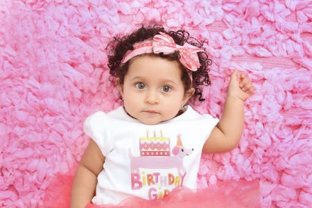 *one year old girl*